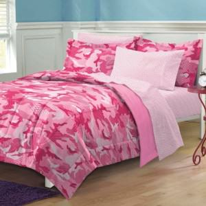 Pink Camouflage Bedroom Decor