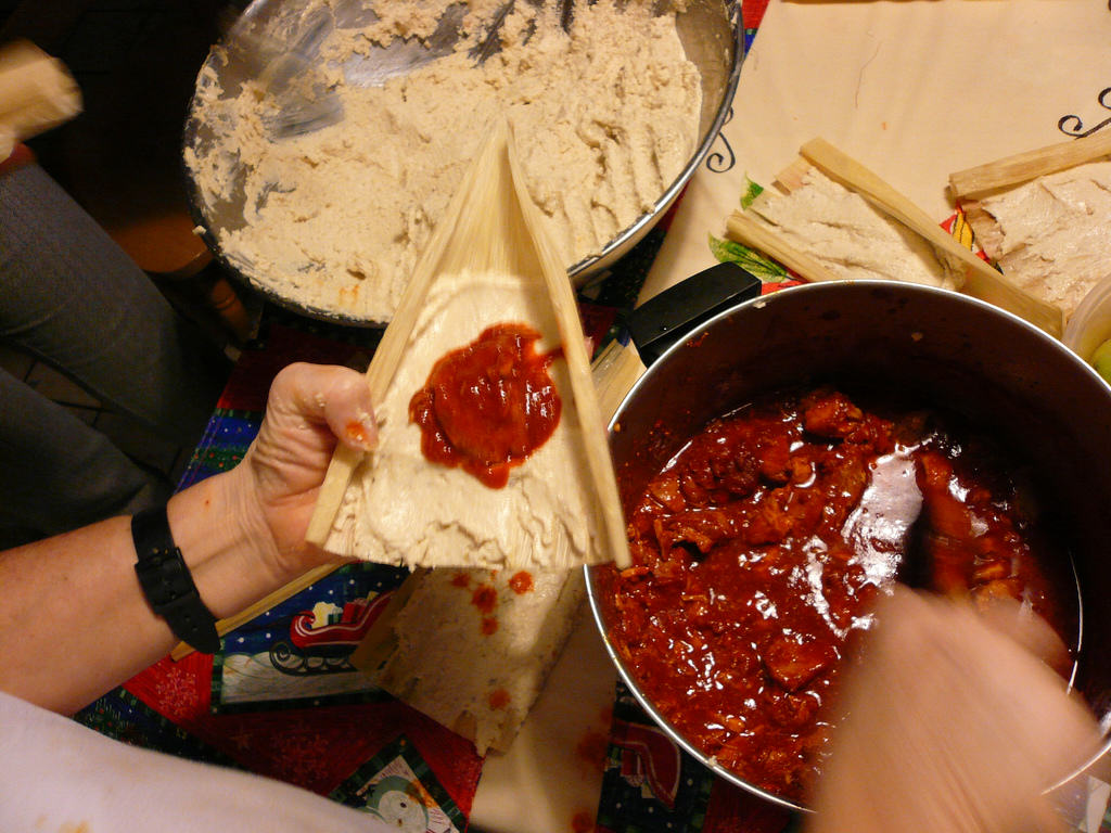 Making Easy Homemade Tamales