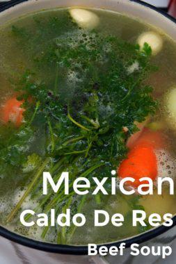 Mexican Caldo De Res Beef Soup