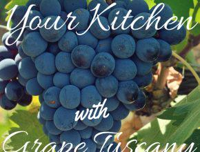 Beautify Your Kitchen With Enchanting Tuscany Grapes Kitchen Decor