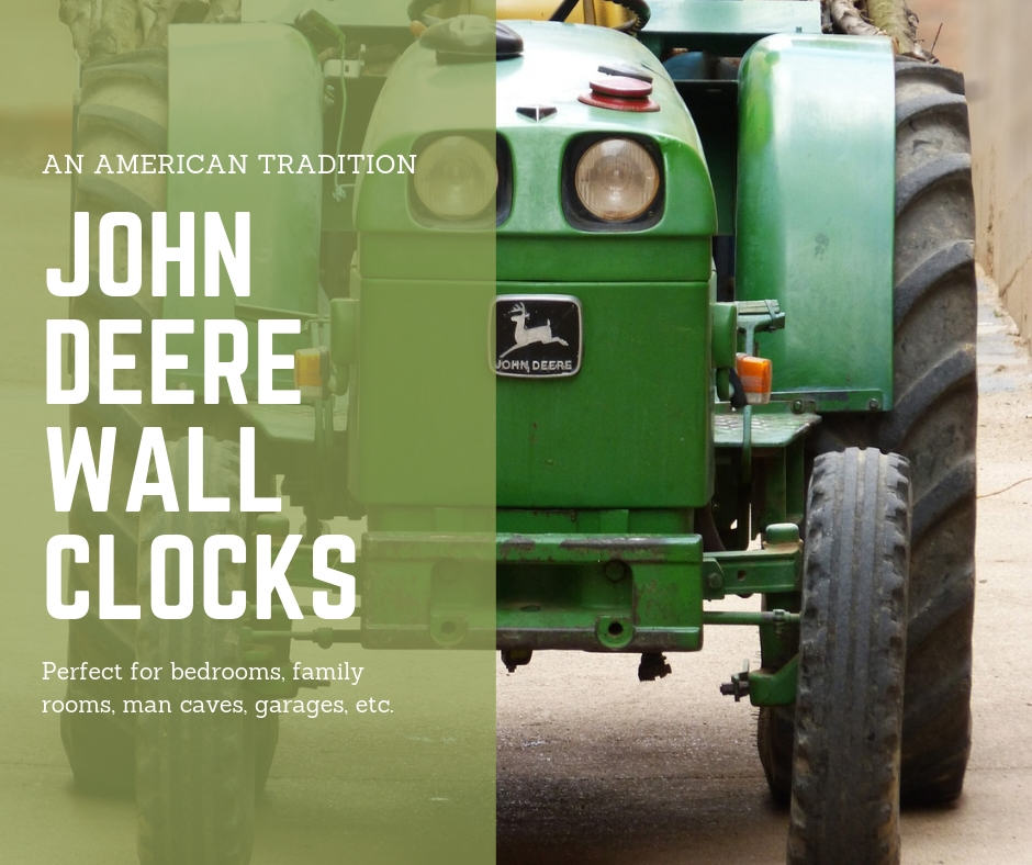 John Deere Bathroom Decor: Popular John Deere Wall Clocks Are Sure Fire Gifts For
